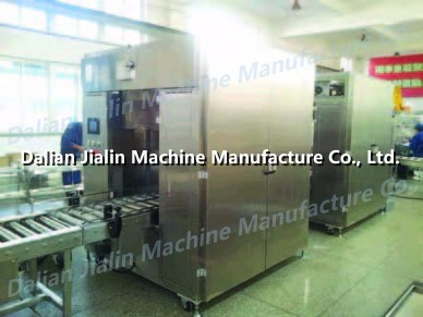 Carton packing with plastic inserting machine