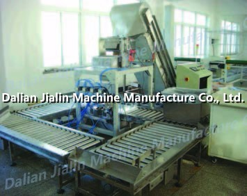 Food weighting and packing machine